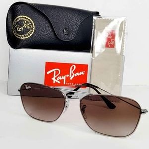 Ray Ban Gunmetal Square Brown Gradient Lens